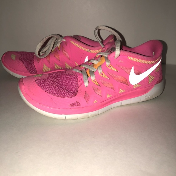 official photos 6297a ad3fb Pink and orange NIKE FREE RUNS 5.0